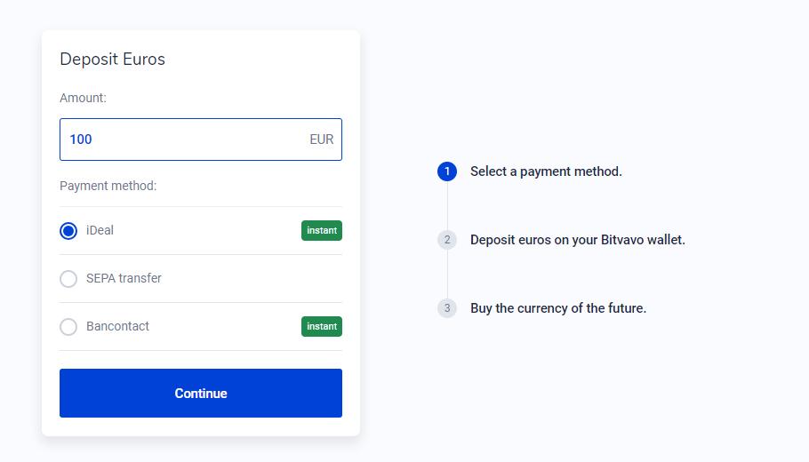 Ethereum kopen met iDEAL 2: Geld Storten